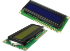 LCD1602, I2C-modul (gulgrön)