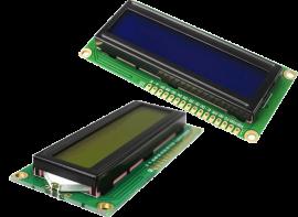 LCD1602, I2C-modul (blå)