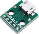 Adapterkort, microUSB - 5 pin SIP
